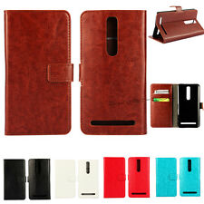 Flip Leather Luxury Magnetic Stand Wallet Card Cell Case Cover For Asus Zenfone