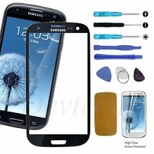 Front Screen Glass Lens Replacement Repair Kit Black for Samsung Galaxy S3 i9300