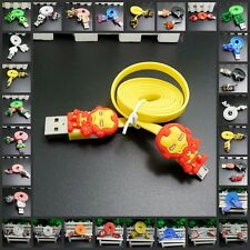New USB Data Charger Sync Cord with Hot Cartoon Characters for Android Phone
