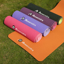 "6mm Thick 72*24* 1/4"" Durable Non-slip Yoga Mat Exercise Fitness Pad Lose Weight"