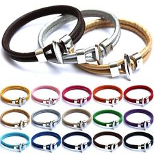 Fashion Leather wrap Bracelet Punk Rock Wristband For Men Cool Men Jewelry