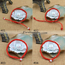 Hand Braided Red Lucky String Rope Cord Bracelet Handmade Adjustable