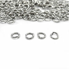 Wholesale White K Split Jump Rings Open Connector Finding 4/5/6/8/10/12/14mm DIY