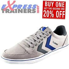 Hummel Mens Slimmer Stadil Canvas Lo Casual Classic Retro Trainers *AUTHENTIC*