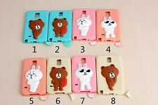 Cartoon cute Bear Silicone Cover For Samsung Galaxy mobile phone Soft Skin Cases