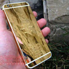 2015 Gold 24K Limited Edition Frame Plated Back Housing for iPhone 6 / 6 Plus