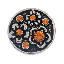 Wholesale Lots Snap Buttons Charms Rhinestone Flowers Fit Snap Bracelets