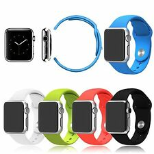 Watchband Silicone Fitness Sports Watch Band for Apple Watch iWatch 38mm 42mm