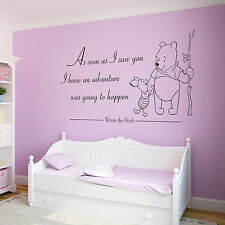 Winnie The Pooh Quote, Decal/Sticker, Vinyl Wall Art for Kids/Girls/Boys Bedroom