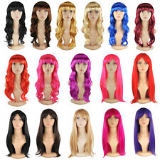 Fashion Women Cosplay Wigs Lady Long Curly Wavy Full Wig Natural Hair Party Wigs