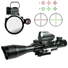 Hunting 4-12X50 EG Rifle Scope R/G Mil-dot/Holographic Dot Sight/Red Laser JG8