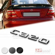 C320 REAR LETTER EMBLEM BADGE STICKER for MERCEDES BENZ C CLASS W203 W204 AMG