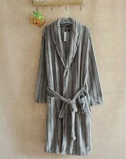 Luxury Mens GREY Thermal Coral Fleece Dressing Gowns Super soft Bath Robe
