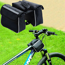 New Cycling Bicycle Bike Mountain Front Frame Tube Double Side Pannier Bag