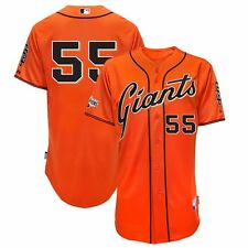 2015 Tim Lincecum SF Giants Authentic Alt Orange Cool Base Jersey w/ Patch