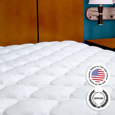 Five-Star Extra Plush Hotel Mattress Pad - Topper with Fitted Skirt