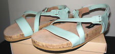 THEME Brand Strappy Patent Style Size 11W  Velcro Close Sandal Wide NEW in Box