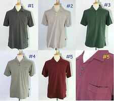 *NEW Patagonia Striped Polo Shirt Short-Sleeve Men' 100% Organic Cotton Golf M