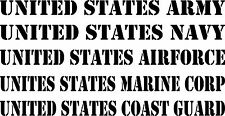 "29"" x 2"" Military Banner Army Navy Airforce Marines Coast Guard Sticker Decal"