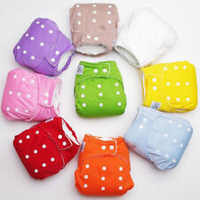 Soft Cover Washable Free Size Adjustable Reusable Baby Infant Nappy Cloth Diaper