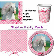 Heart My Horse 8-48 Guest Starter Party Pack - Cups | Plates | Napkins
