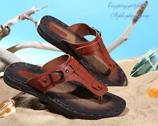 Men's Casual roma gladiator leather buckle strap flip flops beach sandal new