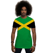 Jamaican Flag All Over Print Kingston Caribbean Rasta Reggae Music Mens T Shirt
