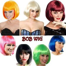 US HOT SALE! BOBO Full Wig Short Straight Hair Wigs Neat Bang Costume Party Wig
