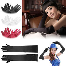 New Hot Satin Long Gloves Opera Wedding Bridal Evening Party Costume GLOVES