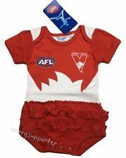Sydney Swans AFL Girls Baby Footysuit 'Select Size' 000-1 BNWT