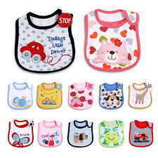 New Baby Infant Toddler Cotton Bibs 3 Layers Waterproof Cute Cartoon Boy Girl