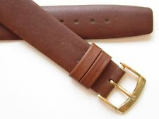 "Smooth brown vintage 50's wirelug ~ ""open end"" watch band 16 mm"