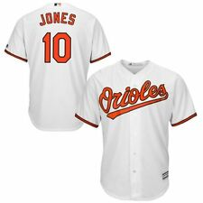 Adam Jones Baltimore Orioles Majestic Official Cool Base Collection Jersey White
