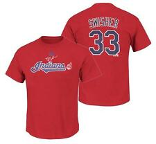 NWT Majestic Nick Swisher #33 Cleveland Indians Name and Numebr Player T-Shirt