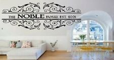 Personalised Family Name and Year Wall art Quote Decal - Sticker 3 for 2