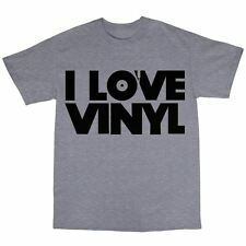 I Love Vinyl T-Shirt 100% Cotton DJ Collector House  Techno MP3