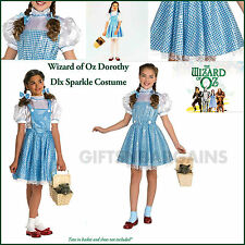 Dorothy Wizard of Oz Sequin Girl Book Week Costume & Blue Hair Ties Child S/M