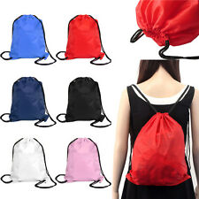 Nylon Drawstring Cinch Sack Sport Beach Travel Outdoor Casual Backpack Bags