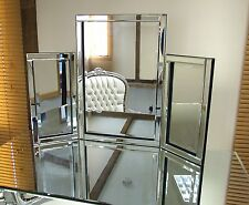 Dressing Table Mirror Modern Clear Venetian Tri-Fold Free Standing  1Ft10 X 2Ft7