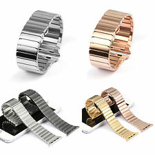 316L Solid Stainless Steel Link Bracelet Strap Band + Adapter for Apple Watch