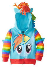 FREEZE Girls' TV Show MLP My Little Pony Rainbow Dash Striped Sleeve Hoodie