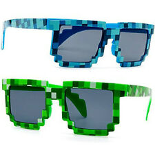 Free Pouch Minecraft Sunglasses Halloween costume accessories Pixelated 8-bit