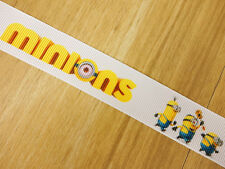 "7/8"" Movie Minions Despicable Me Grosgrain Ribbons HairBow Party Craft Supplies"