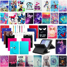 "For DigiLand 7"" / 8"" / 10.1"" Tablet Universal Flip Leather Stand Case Cover +Pen"