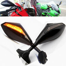 2007 2008 2009 HONDA CBR600RR CBR 600 RR LED Integrated Turn Signal Black Mirror