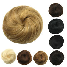 Fashion Straight Drawstring Clip In Hair Bun Piece Updo Cover Hair Extensions