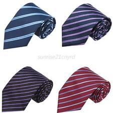 Hot! Fashion Striped Classic 100% New Silk Jacquard Woven Necktie Men's Tie U79