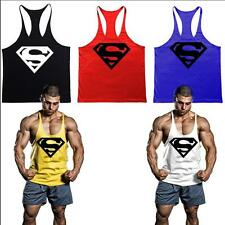 Superman Men Personalized Tee 100% Cotton Gym Tank tops stringers Bodybuilding