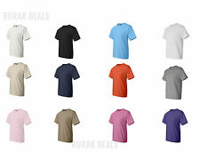 6 Pack Hanes Beefy T Shirts WHITE 5180 S-6XL Wholesale Pricing!