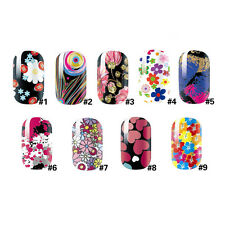 Beauty Nail Art Stickers Water Decals Nail Transfers Wraps Flowers Floral